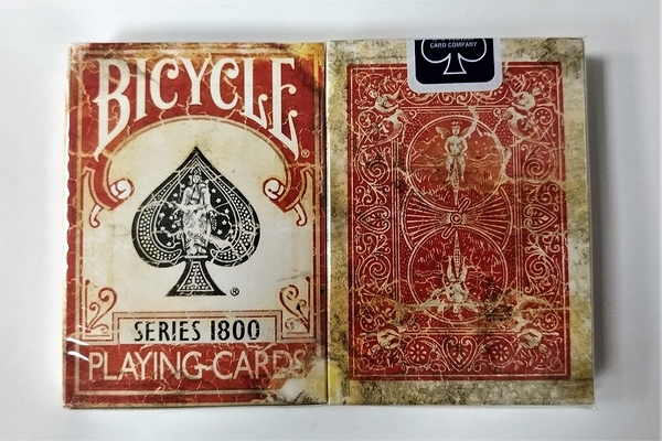 【USPCC撲克館】Marked 1800 playing cards red (藍封標)