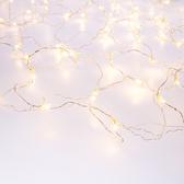 120燈LED晶鑽聖誕網燈 暖白(透明線)
