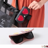《ZB0645》俏皮可掛式眼鏡保護套 OrangeBear