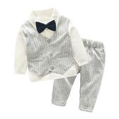 假兩件領結紳士造型套裝 童裝 長袖上衣 褲子 長褲
