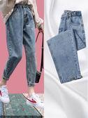 直筒褲牛仔褲女寬鬆夏季薄款高腰九分直筒褲秋裝年新款闊腿老爹褲 伊羅鞋包