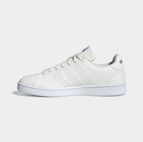 Adidas ADVANTAGE 男款白色運動休閒鞋-NO.EE7685
