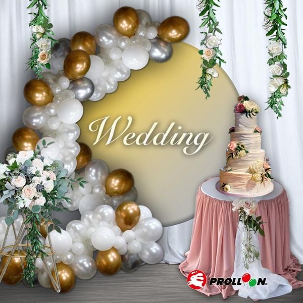 【大倫氣球】氣球花環 不規則氣球球柱 金屬氣球款 Balloon Garland 婚禮 滿周歲 抓周 收涎 派對