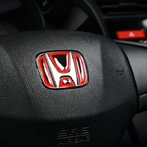 HONDA 本田 方向盤貼 LOGO 貼紙 藍 紅 兩色 CIVIC CRV CITY HRV 沂軒精品 A0337
