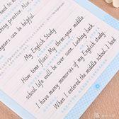字帖 英語字帖練字中學生初中生臨摹斜體英文練字專用本硬筆書法練字帖 娜娜小屋