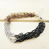 【粉紅堂 飾品】8字形鎖鏈幸運手鍊 *黑+棕*