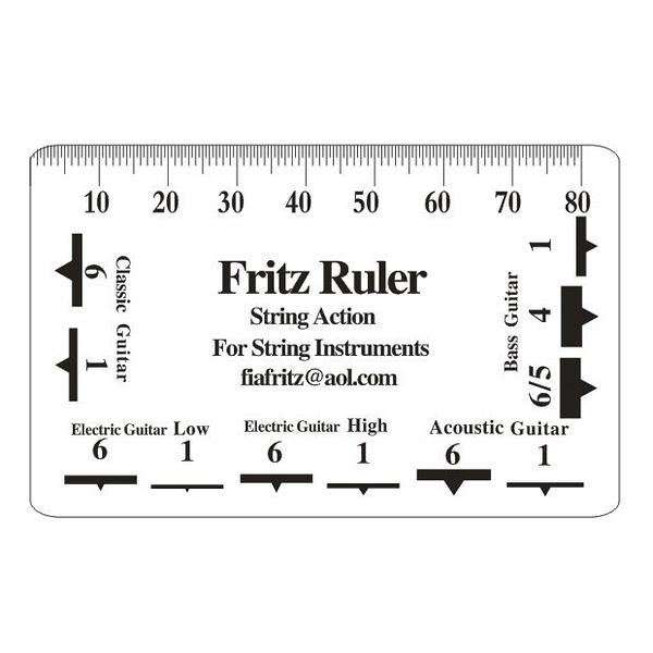 唐尼樂器︵ Fritz Ruler 吉他尺規 弦距 測量尺 測量卡 調整弦距 專用 吉他 電吉他 貝斯 Bass