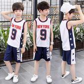 兒童籃球服套裝夏季童裝男童運動球衣小學生