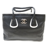 CHANEL 香奈兒 黑色羊皮肩背包 Executive Cerf Shopper Tote Bag 【BRAND OFF】
