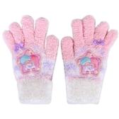 Sanrio 雙星仙子女童用可愛針織保暖手套(星星)★funbox★ _846236N
