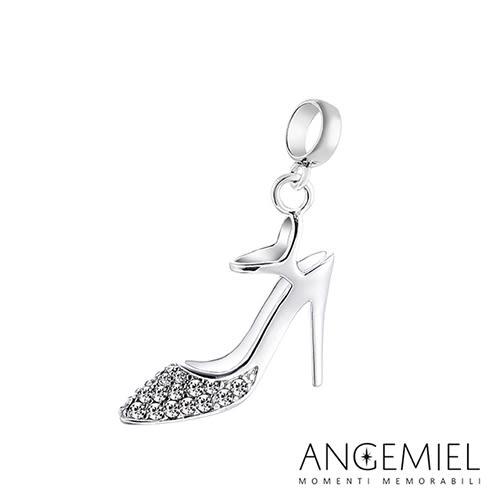 Angemiel安婕米 925純銀珠飾  Dream童話系列 閃亮高跟鞋 吊飾