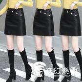 短裙-皮裙女2020新款裙子高腰a字裙顯瘦包臀裙短款短裙春秋黑色半身裙-奇幻樂園