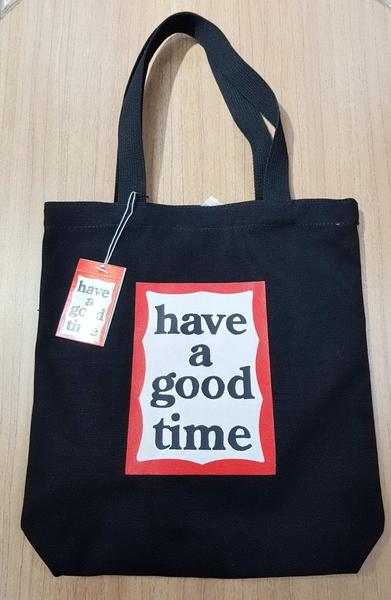 KR正韓- have a good time 文青帆布包 帆布提袋 帆布包 購物袋(長版)-2色 H1530