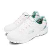 Skechers 訓練鞋 Flex Appeal 3.0-Tropical Princess 白 綠 女鞋 運動鞋 【PUMP306】 149002WMNT