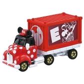 小禮堂 TOMICA多美小汽車 迪士尼 米妮 造型貨櫃車 玩具車 模型車 (紅) 4904810-15650