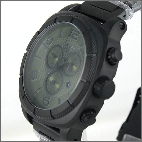 【萬年鐘錶】elegant大錶徑 三眼多功能 (霧黑-綠) ELJT66-FG08MA