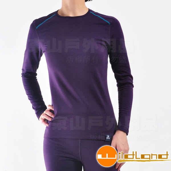 Wildland 荒野 0A22663-79深紫色 女輕量銀離子抗菌保暖衣