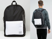 Hsin 83折 現貨 Herschel Settlement 黑色 白色 防水拉鍊 大容量 手機 筆電層 帆布 後背包