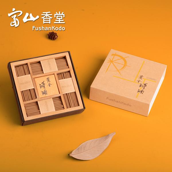 【富山香堂】黃金琦楠 57mm 臥香補充包 線香 香氛 禮品 薰香 檀香