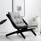 懶人椅摺疊椅子單人沙髮搖椅休閒午休家用成人陽台曬太陽逍遙躺椅 DF 交換禮物