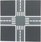 【Tico 微型積木】T-9907 A城市道路底板 (柏油灰)
