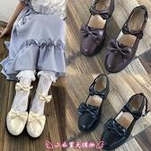 娃娃鞋 日系圓頭小皮鞋女生皮鞋洛麗塔鞋子學院風顯腳小粗跟單鞋女 - 小衣里大購物