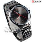 CURREN 卡瑞恩 數字時尚潮流款 簡約有型 男錶 防水手錶 IP黑電鍍 CU8280黑