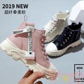 女童靴子時尚英倫風短靴公主寶寶馬丁靴兒童鞋潮【聚可愛】