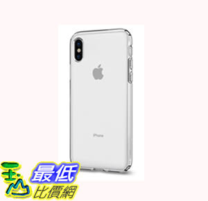 [106美國直購] 手機保護殼 Spigen Liquid Crystal iPhone X Case Slim Protection Premium Clarity iPhone X (2017)