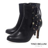 Tino Bellini 巴西進口風姿綽約高跟短靴_ 黑  B69013  歐洲進口款