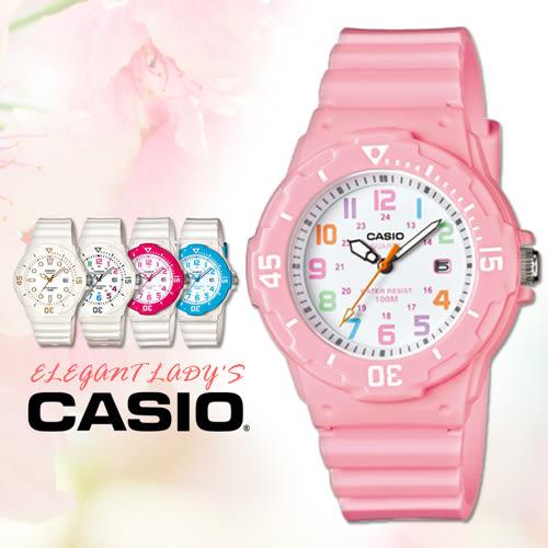 CASIO手錶專賣店 卡西歐 LRW-200H-4B2 兒童錶  運動 防水100米 膠質錶帶 可旋轉錶圈 日期顯示