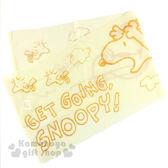 〔小禮堂〕史努比  身體沐浴巾《淺黃.黃圖.飛翔》 4712977-46091