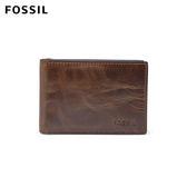 FOSSIL Derrick 咖啡色真皮RFID鈔票夾 男 ML3684201