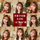 聖誕頭飾 圣誕節頭飾發光圣誕鹿角發箍女森系仙女頭箍發飾超仙發夾飾品發卡
