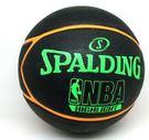 SPALDING NBA HIGHLIGHT 藍球  五芒星 柔軟 七號 室外  黑 橘 綠【運動世界】 SPA83199