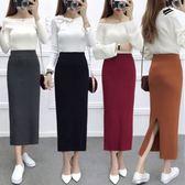 (全館一件免運)DE SHOP~(D-648)A字裙毛邊牛仔裙女學生高腰包臀半身裙