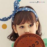 韓版甜心公主兔耳朵俏皮波點牛仔髮箍 髮飾