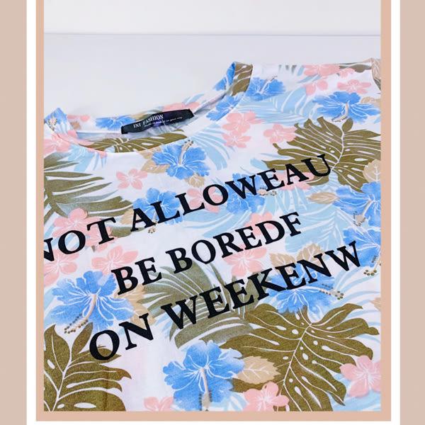 【INI】週慶限定、輕盈柔感花樣上衣.水藍色