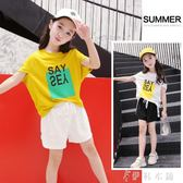 女童短袖 女童短袖T恤韓版中大童寬鬆蝙蝠衫兒童冰絲棉薄款半袖潮 伊鞋本鋪