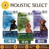 *WANG*Holistic select 活力滋 成犬《雞肉│羊肉│三種魚 配方》30磅 狗飼料