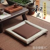 日式榻榻米坐墊 餐桌椅墊 飄窗坐墊棉麻沙發坐墊方形蒲團YTL「榮耀尊享」