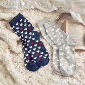 襪子女 新款甜美可愛心形少女中筒襪時尚舒適襪子【2雙裝】依卉【芭蕾朵朵】