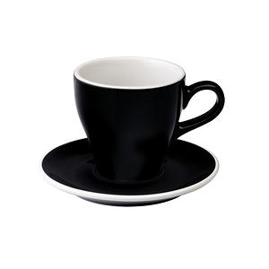 Loveramics Pro-Tulip拿鐵咖啡杯盤組-共8色黑