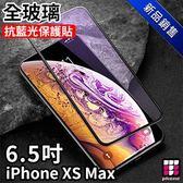 APPLE IPHONE XS Max 專用3D 全螢幕玻璃抗藍光保護貼 耐磨/防刮