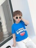 男童短袖T恤洋氣2020新款寶寶夏季半袖打底衫兒童夏裝上衣韓版潮