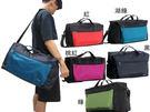 【旅行袋】~雪黛屋~KAWASAKI旅行袋中容量35L可固定行李拉桿輕量防水尼龍布運動休閒旅行品手提肩斜側附活動長背帶HKA211(旅行袋)