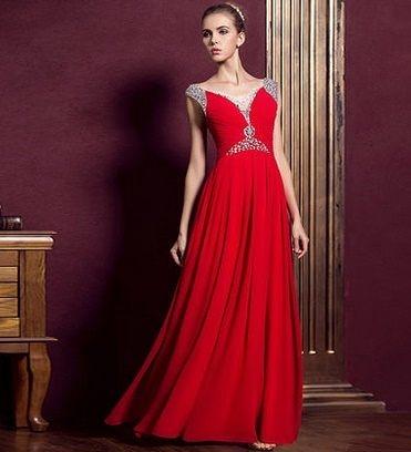禮服敬酒服 伴娘服長款 紅色晚禮服-mingm00202