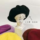 定制款大頭圍貝雷帽顯瘦有內襯澳洲全羊毛純色復古百搭蘑菇畫家帽一米