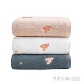 三利浴巾純棉大款男女超大毛巾可愛家用吸水速干不掉毛裹巾三件套 小艾時尚