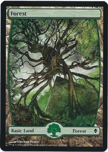 【MEIGO美購】 Zendikar Full Art Forest #249 Vincent Proce Near Mint NM Free Shipping Textless 遊戲卡